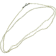 Vintage Edwardian twisted seed pearl necklace 25 inches long