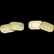Vintage rolled gold cufflinks