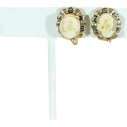 Vintage Cameo earrings Not Pierced