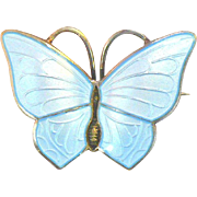 Vintage Sterling Norway Butterfly pin