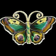 David Andersen multicolored 2 3/8 inch wide enamel sterling pin 2B