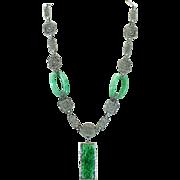 Art Deco Peking Glass necklace