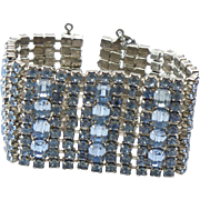 Weiss Icy blue nine row bracelet
