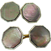 Vintage smokey mother of pearl cufflinks