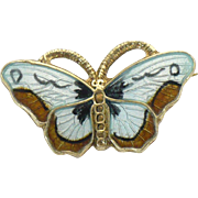 Vintage sterling enamel butterfly 3/4 of an inch