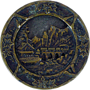 Victorian metal picture button 1.5 inch