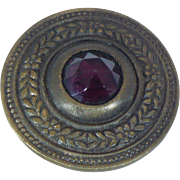 Victorian 1890s' jeweled waistcoat button 1.5 inches