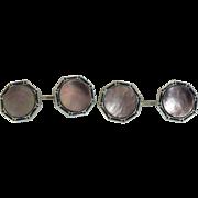 Vintage Abalone and enamel cufflinks