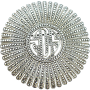 Vintage Sterling and Marcasite brooch