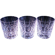Three Waterford 9 Oz tumblers Lismore