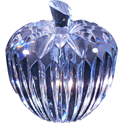 Waterford retired apple paperweight