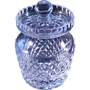 Waterford Lismore marmalade or condiment jar