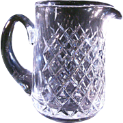Waterford Lismore Pitcher  6.5 inch tall