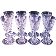 Eight Waterford Claret wine glasses 5 7/8 inch