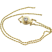 Vintage 14 Kt Klein slide bracelet with diamond clasp.
