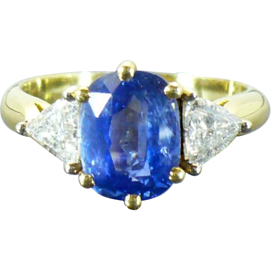 Vintage 18kt Sapphire and diamond ring