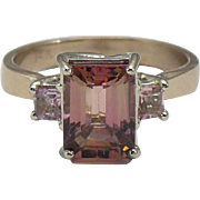 Natural precious Topaz custom 14 Kt rose gold ring