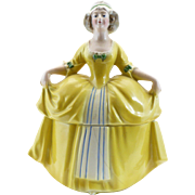 Large Yellow Dresser Doll E&R Madame Pompadour Germany