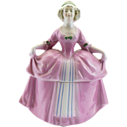 Medium Rose pink  Dresser Doll E&R Madame Pompadour Germany