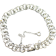 Elco Sterling Charm bracelet 7.5 inches