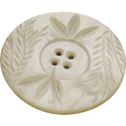 Vintage Carved Mother of pearl button 1.5 inch