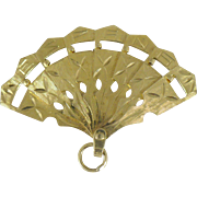 "Vintage 14 Karat gold Fan marked ""Espana"""