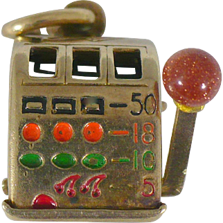 Vintage 14 KT Slot Machine with moving arm