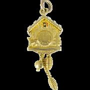 Vintage 14 KT gold Cuckoo clock charm