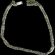Vintage Sterling link bracelet 8 inch