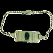 Vintage Sterling ID bracelet 7 inch