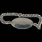 Vintage Sterling ladies' ID bracelet 7 inch
