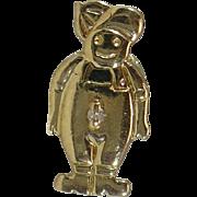 Vintage 14 Karat gold Boy slide charm by Klein