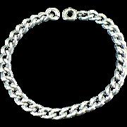 Vintage solid sterling silver charm bracelet 7.5 inches