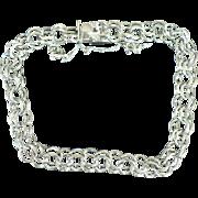 Vintage Elco Sterling silver charm bracelet