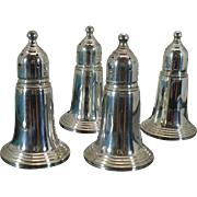 Vintage Sterling Empire Silver Co double salt and pepper shaker set in original box.