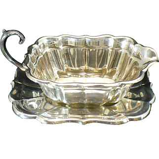 Sterling Reed and Barton Gravy boat and saucer Windsor pattern