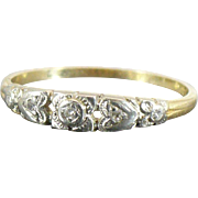 Vintage 14 Karat diamond band