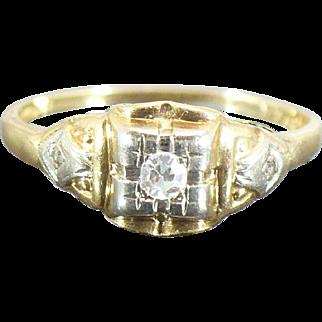 Vintage 14 karat diamond engagement ring