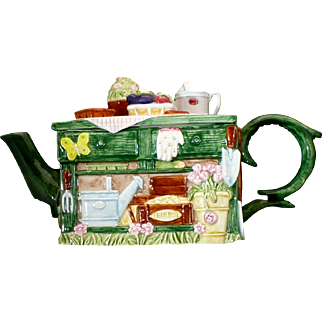 Fitz and Floyd Omnibus Gardening table teapot