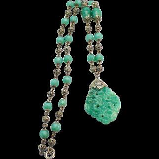 Peking glass bead necklace