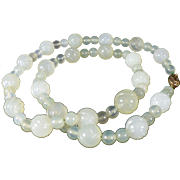 Vintage pale green Jade necklace