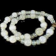 Vintage pale green Jade necklace