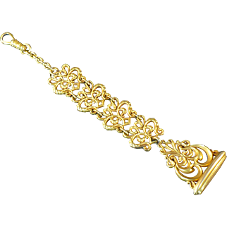 Vintage rolled gold Victorian watch fob