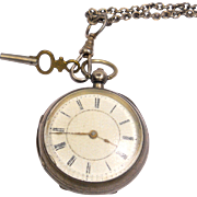 Antique Sterling Pocket Watch