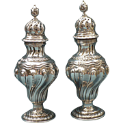 Vintage Sterling  Salt and Pepper shakers English 1928