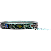 Vintage Sterling and enamel bangle bracelet from Thailand