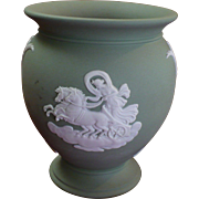 Vintage sage Wedgwood Baluster shaped vase