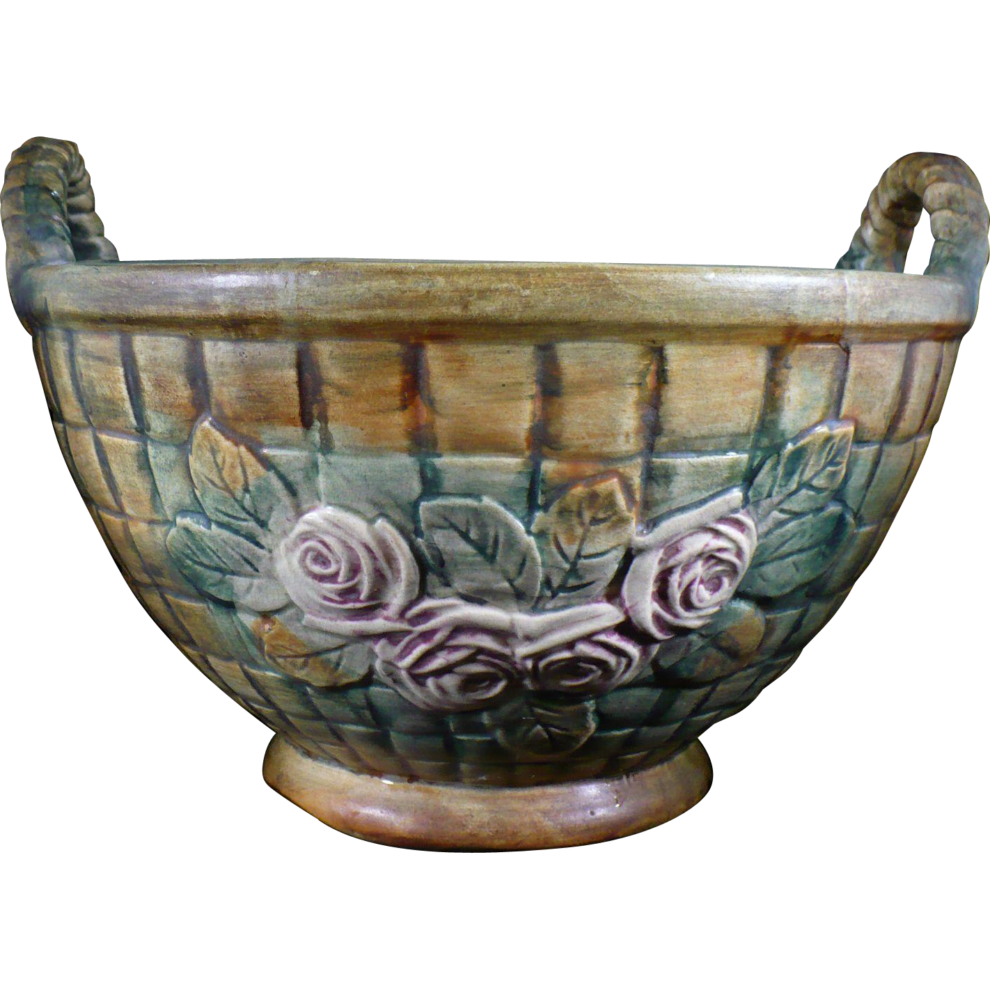 Vintage Weller Pottery Tub In The Flemish Pattern