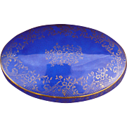 Limoges cobalt blue and gold box