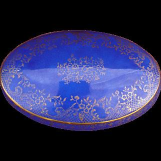 Limoges cobalt blue and gold box